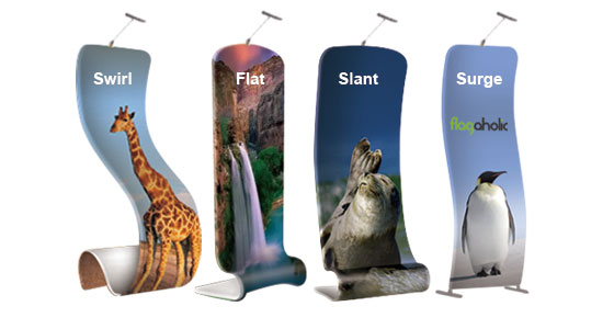 Slant Fabric Banner Stand-1