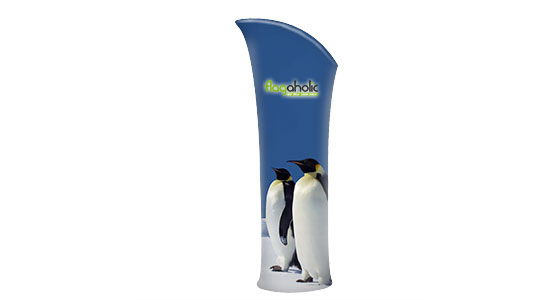 Arched Top Fabric Banner Stand