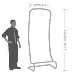 Slant Fabric Banner Stand-6