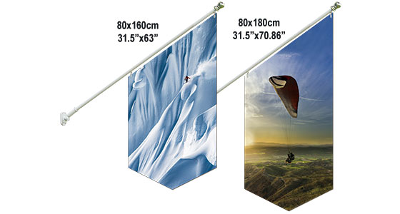Wall Mount Flag Set-4