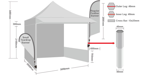 Printed Marquee with Back Wall-4