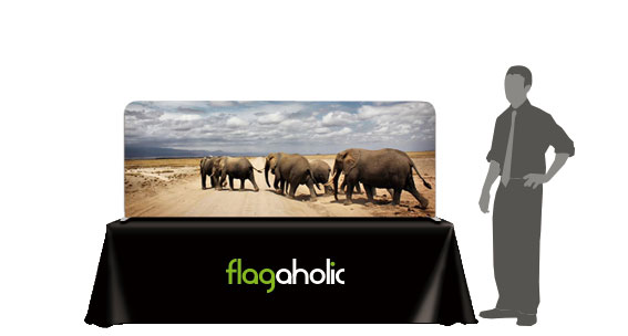 Tabletop Straight Fabric Tube Display-2